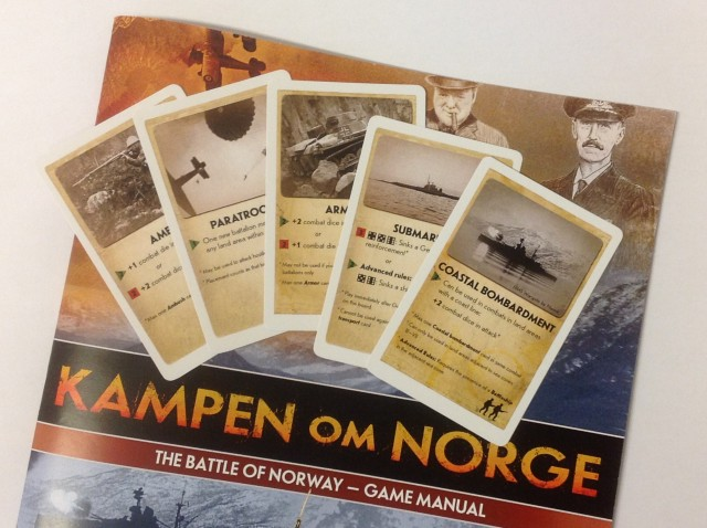 English Cards & Rules for Kampen om Norge (Battle of Norway)