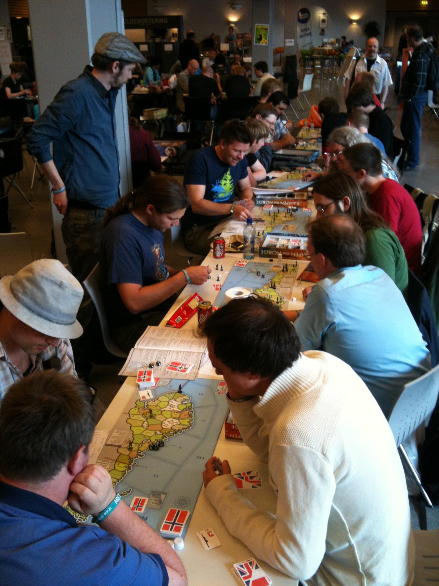 Kampen om Norge-langbord på Arcon
